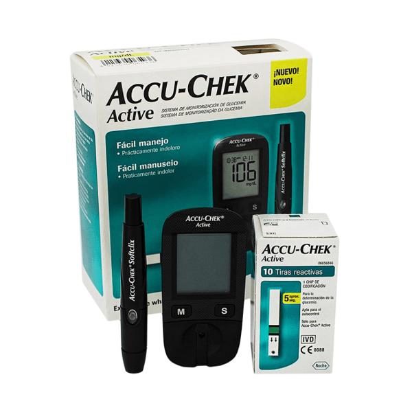 Glucómetro Accu-Check Active AEON - Equipo Médico Consultoría